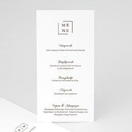 Personaliseerbare menukaarten huwelijk Modern Nude