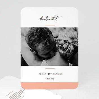 Bedankkaarten huwelijk met foto - Color Touch - 0