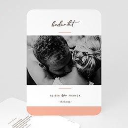 Bedankkaarten huwelijk met foto Color Touch