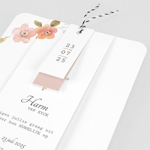 Landelijke trouwkaarten - Botanisch Roze 58912 thumb