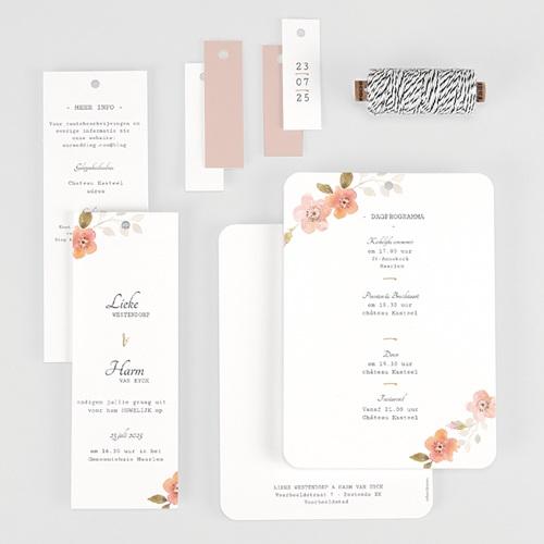 Landelijke trouwkaarten - Botanisch Roze 58913 thumb