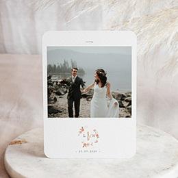 Chique bedankkaartjes huwelijk Botanisch Roze