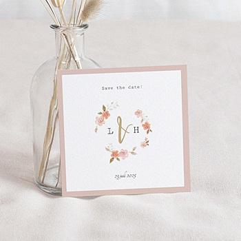 Save the date kaartjes - Botanisch Roze - 0