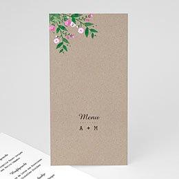 Menukaarten huwelijk Vintage Flower