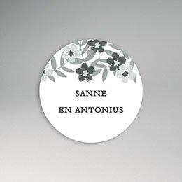 Etiket huwelijk Anemonen