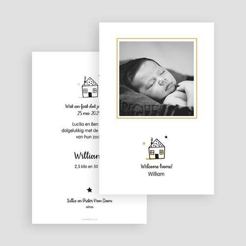 Geboortekaartjes Jongen New Home gratuit
