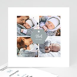 Aankondiging Geboorte Foto collage