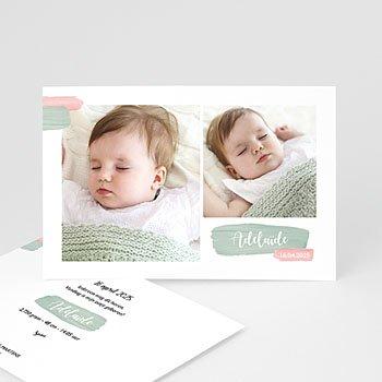 Geboortekaartje meisje - Foto en Sober - 0