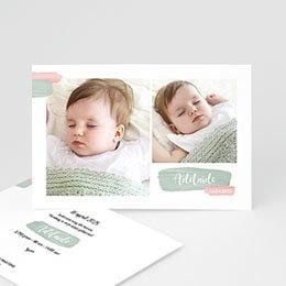 Geboortekaartje meisje Penseelstreken