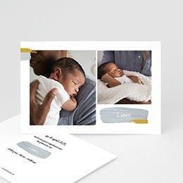 Geboortekaartjes met foto Penseelstreken