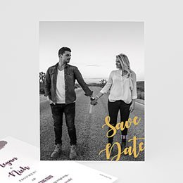 Save the date kaartjes Boho Heart Wood