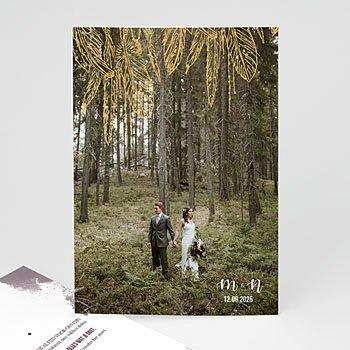 Bedankkaarten huwelijk met foto - Boho Heart Wood - 0