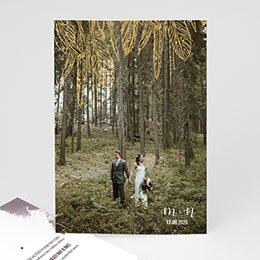 Bedankkaartjes Huwelijk Boho Heart Wood
