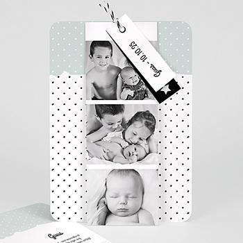 Geboortekaartjes met foto - Pepermunt - 0