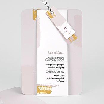 Creatieve trouwkaarten - Rozenkwarts - 0