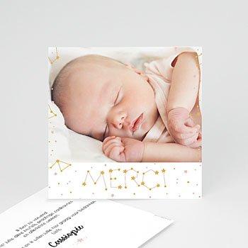 Bedankkaartje geboorte dochter - Pastel en Constellatie - 0