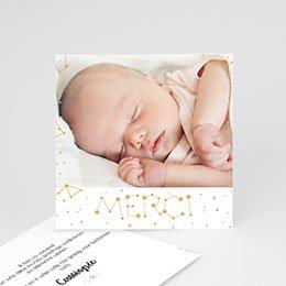 Bedankkaartjes Geboorte Pastel en Constellatie