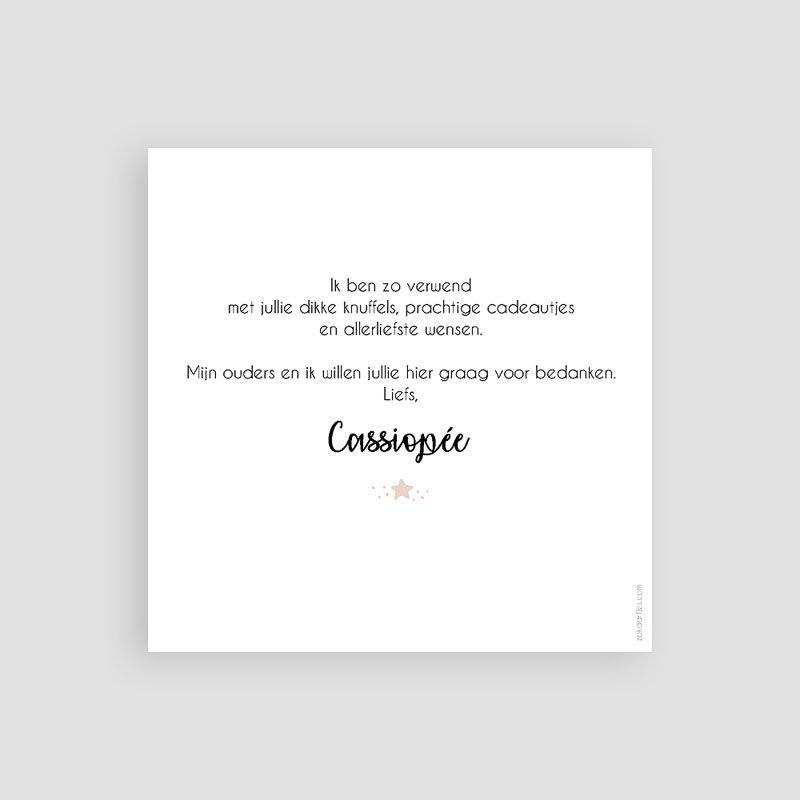 Bedankkaartje geboorte dochter - Pastel en Constellatie 59342 thumb