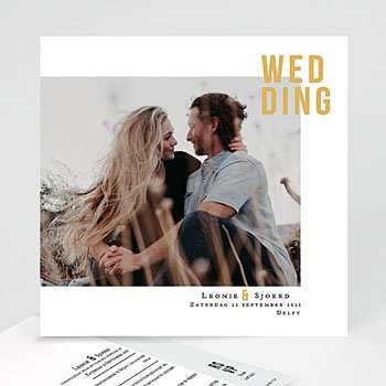 Creatieve trouwkaarten - Photo & Typo - 0