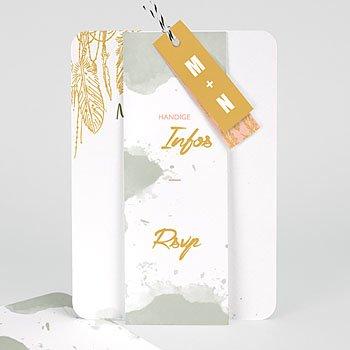 Creatieve trouwkaarten - Olifgroen - 0
