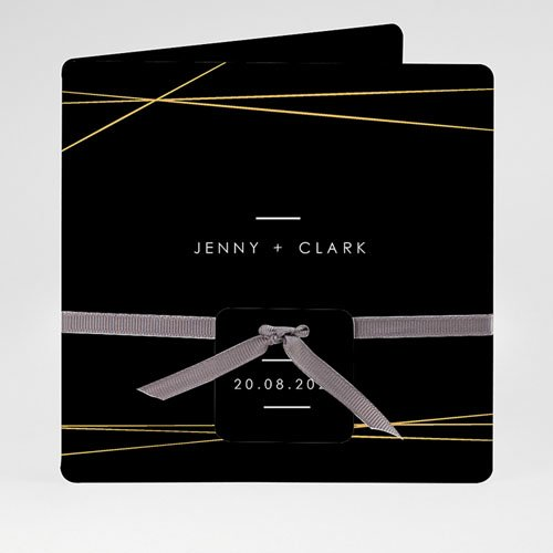 Chique trouwkaarten - Minimalist Chic 59474 thumb
