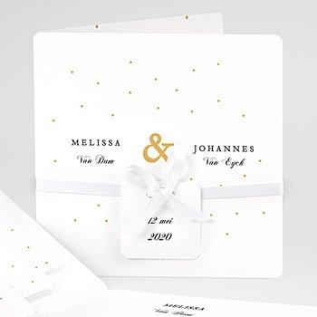 Klassieke trouwkaarten - Golden touch - 0