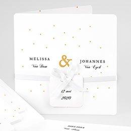 Klassieke trouwkaarten Golden touch