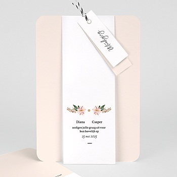 Vintage trouwkaarten - Pastel blossoms - 0