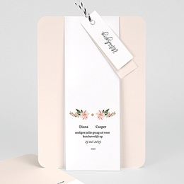 Vintage trouwkaarten Pastel blossoms