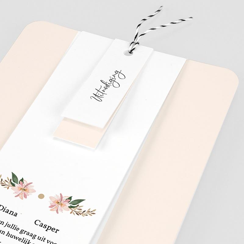 Vintage trouwkaarten - Pastel blossoms 59534 thumb