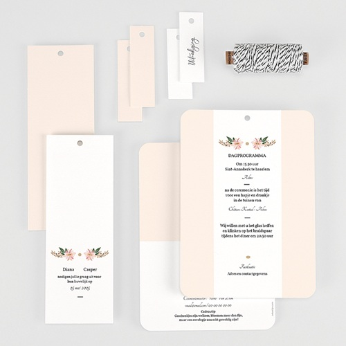 Vintage trouwkaarten - Pastel blossoms 59535 thumb