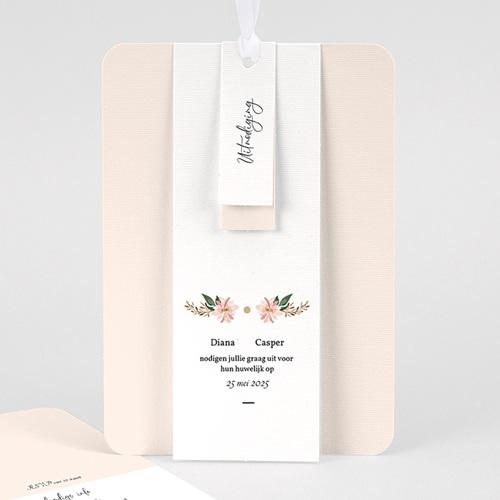 Vintage trouwkaarten - Pastel blossoms 59537 thumb