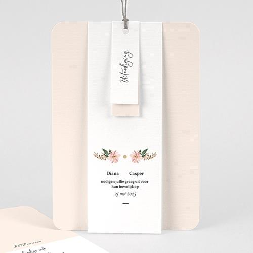 Vintage trouwkaarten - Pastel blossoms 59538 thumb
