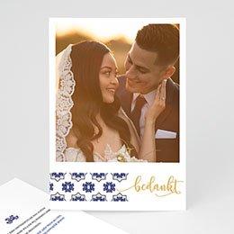 Bedankkaartjes Huwelijk Blauw Oosterse