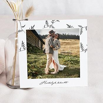 Bedankkaarten huwelijk met foto - Kraft en takjes - 0