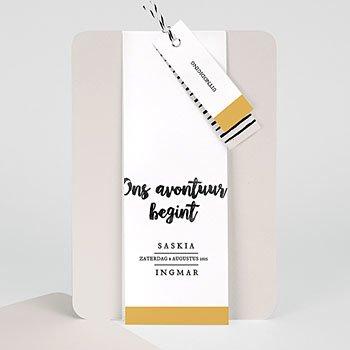 Creatieve trouwkaarten - Nieuw avontuur - 0