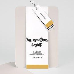 Creatieve trouwkaarten Nieuw avontuur