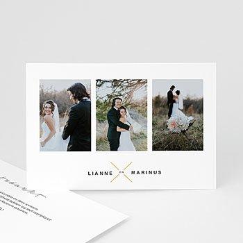 Bedankkaarten huwelijk met foto - Minimalistische & Geometrische - 0
