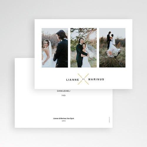 Bedankkaarten huwelijk met foto - Minimalistische & Geometrische 59683 thumb