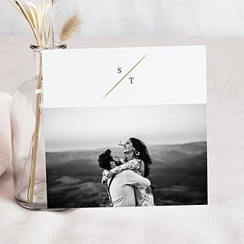 Bedankkaarten huwelijk met foto - Vintage bladeren - 0