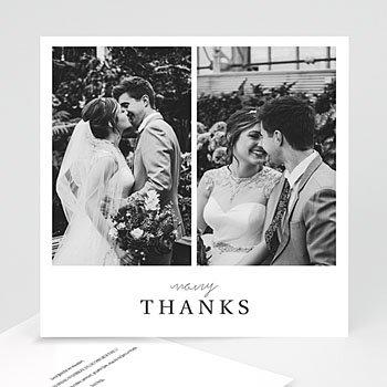 Bedankkaarten huwelijk met foto - Typografisch en Chic - 0