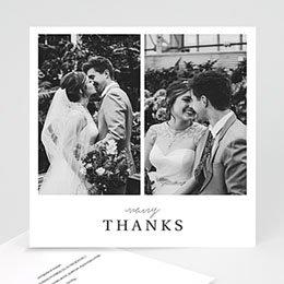 Bedankkaarten huwelijk met foto Typografisch en Chic