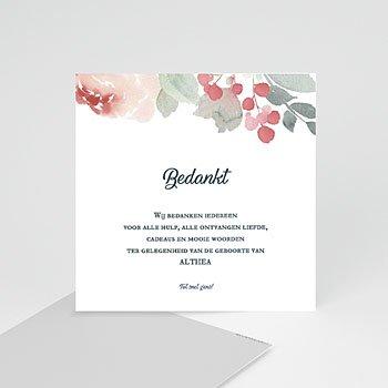 Bedankkaartje geboorte dochter - Althea - 0