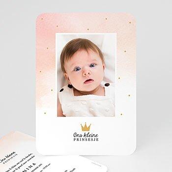 Geboortekaartje meisje - Kleine Prinses - 0