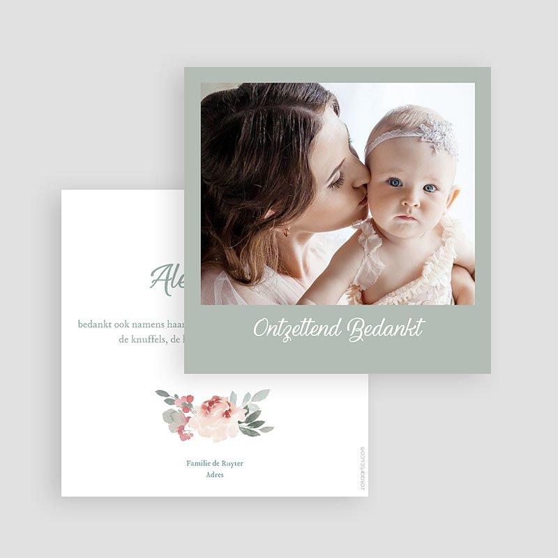 Bedankkaartje geboorte dochter Little Princess gratuit