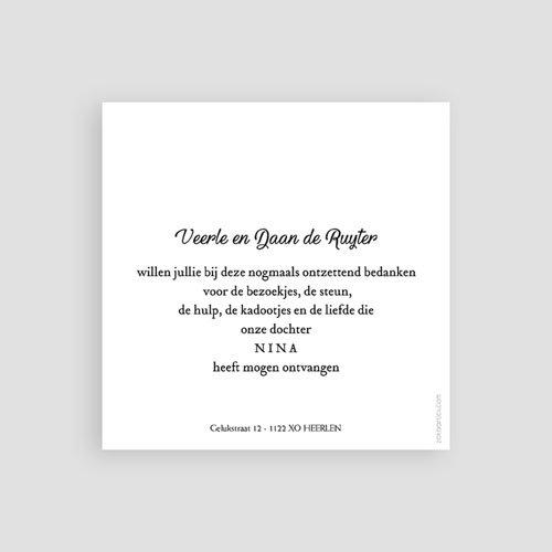 Bedankkaartje geboorte dochter - Kleine Prinses 59787 thumb