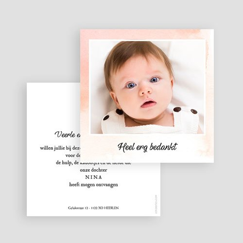 Bedankkaartje geboorte dochter - Kleine Prinses 59788 thumb