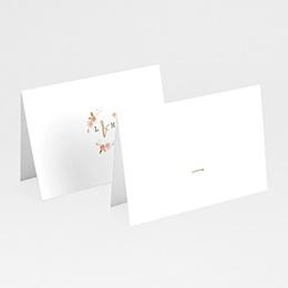 Tafelkaartjes huwelijk Botanisch Roze