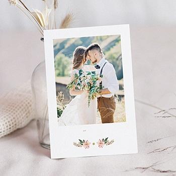 Chique bedankkaartjes huwelijk - Pastel blossoms - 0