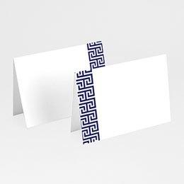 Tafelkaartjes huwelijk Griekse blauw